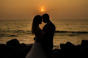 Sunset wedding photograph from Resh Rall