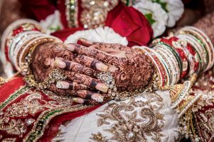 Amer henna hands detail by Resh Rall Wedding Photography, Leeds